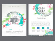 Brochure, template or flyer design for business. Colorful two pages business brochure, template or flyer design with place holders for corporate sector Stock Photo