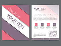Brochure, template or flyer design for business. Two pages presentation of business brochure, template or flyer design with web icons and place holders for your Royalty Free Stock Images
