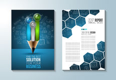 Brochure template, Flyer Design or Depliant Cove. R for business purposes. Elegant layout with space for text and images royalty free illustration