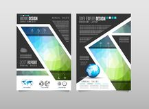 Brochure template, Flyer Design or Depliant Cover for business Royalty Free Stock Image
