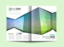 Brochure template, Flyer Design or Depliant Cover for business Royalty Free Stock Images
