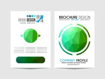 Brochure template, Flyer Design or Depliant Cover for business p Stock Image