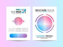 Brochure template, Flyer Design or Depliant Cover for business p Stock Photography