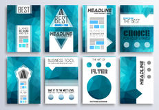 Brochure template, Flyer Design and Depliant Cover Royalty Free Stock Photo