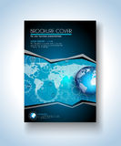 Brochure template, Flyer Design and Depliant Cover Stock Images