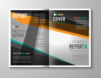 Brochure template, Flyer Design or Depliant Cover for business presentation Stock Photography