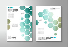 Brochure template, Flyer Design or Depliant Cover Royalty Free Stock Image