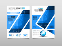 Brochure template, Flyer Design or Depliant Cover for business presentation Royalty Free Stock Image