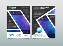 Brochure template, Flyer Design or Depliant Cover for business presentation Stock Images