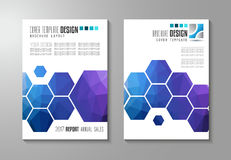 Brochure template, Flyer Design or Depliant Cover for business Royalty Free Stock Photography