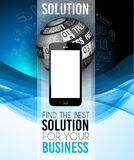 Brochure template, Flyer Design or Depliant Cover for business presentation Royalty Free Stock Photos