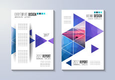 Brochure template, Flyer Design or Depliant Cover for business presentation Royalty Free Stock Photography