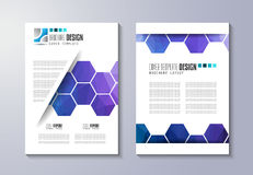 Brochure template, Flyer Design or Depliant Cover for business presentation Stock Image