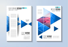 Brochure template, Flyer Design or Depliant Cover for business Stock Photos