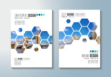 Brochure template, Flyer Design or Depliant Cover for business purposes. Royalty Free Stock Photos