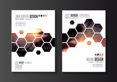 Brochure template, Flyer Design or Depliant Cover for business purposes. Stock Image