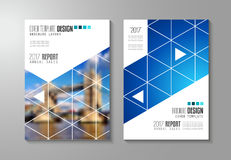 Brochure template, Flyer Design or Depliant Cover for business purposes. Stock Images