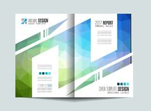 Brochure template, Flyer Design or Depliant Cover for business Royalty Free Stock Photos
