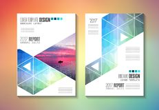 Brochure template, Flyer Design or Depliant Cover for business Royalty Free Stock Photo