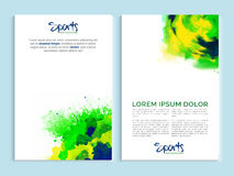 Brochure, Template or Flyer for Sports concept. Royalty Free Stock Photography