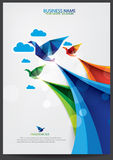 Brochure template freedom design Royalty Free Stock Photos