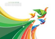 Brochure template freedom design Stock Image