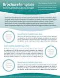 Brochure template for health care company Stock Photography
