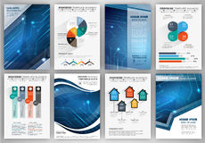 Brochure template with infographic elements Stock Image