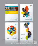 Brochure template layout collection, cover design annual report, Stock Image