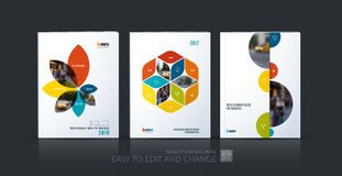 Brochure template layout collection, cover design annual report, Royalty Free Stock Photography