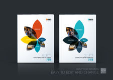 Brochure template layout collection, cover design annual report, Royalty Free Stock Photos