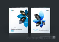 Brochure template layout collection, cover design annual report, Stock Photo