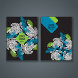 Brochure template layout, cover design of annual report, book, magazine Royalty Free Stock Photos