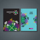 Brochure template layout, cover design of annual report, book, magazine Stock Images