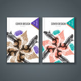 Brochure template layout, cover design of annual report, book, magazine Royalty Free Stock Image