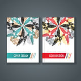 Brochure template layout, cover design of annual report, book, magazine Stock Photography