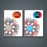Brochure template layout, cover design of annual report, book, magazine Royalty Free Stock Photography