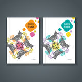 Brochure template layout, cover design of annual report, book, magazine Stock Image