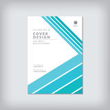 Brochure template layout, cover design annual report, magazine,. Flyer or booklet in A4 with blue geometric shapes bar line and arrow background. Vector Stock Photography