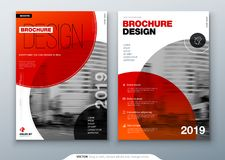 Brochure template layout, cover design annual report, magazine, flyer or booklet in A4 with color circle shapes in swiss. Or magna style. Vector Illustration Stock Photos