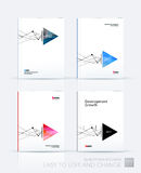 Brochure template layout, cover design annual report, magazine,. Flyer or booklet in A4 with grid, mesh, dots and lines for business books with communication Royalty Free Stock Images