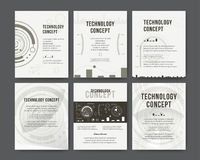 Brochure template layout, cover design annual report royalty free illustration