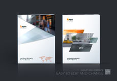 Brochure template layout, cover design annual report, magazine, royalty free illustration