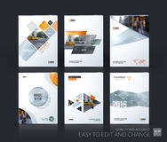 Brochure template layout, cover design annual report, magazine, Royalty Free Stock Images