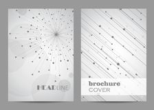 Brochure template layout design. Abstract geometric background with connected lines and dots.  vector illustration