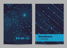 Brochure template layout design. Abstract geometric background with connected lines and dots.  royalty free illustration