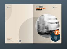 Brochure template layout design. Corporate business annual report, catalog, magazine, brochure, flyer mockup. Creative. Modern bright concept in memphis style royalty free illustration