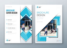 Brochure template layout design. Corporate business annual report, catalog, magazine, flyer mockup. Creative modern stock illustration