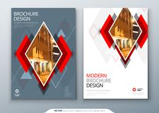 Brochure template layout design. Corporate business annual report, catalog, magazine, flyer mockup. Creative modern. Bright concept with rhombus shape vector illustration