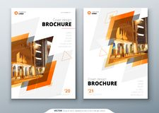 Brochure template layout design. Corporate business annual report, catalog, magazine, flyer mockup. Creative modern vector illustration